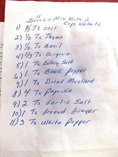 KFC secret recipe