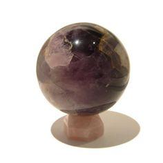 Amethyst Ball 01 Chevron Purple Spiritual Crystal Healing w/ Rose Quartz Stand 2.9  Price : $95.00 http://www.idigcrystals.com/Amethyst-Chevron-Spiritual-Crystal-Healing/dp/B00BZAZRS4