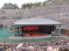 Dalhalla | Flickr - Dalhalla Arena, a former limestone quarry, now turned into an amphitheatre used as a summer music venue in central Sweden.