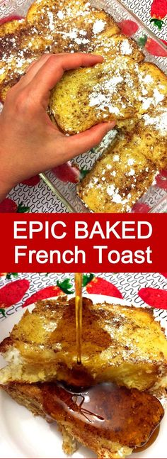 This baked french toast recipe is amazing! So much easier to make than regular f… This baked french toast recipe is amazing! So much easier to make than regular french toast! I'll always make my french toast baked from now on! Breakfast Casserole French Toast, Breakfast Toast, French Toast Bake, Breakfast Dishes, Breakfast Recipes, Breakfast Muffins, Mini Muffins, Breakfast Potatoes, Breakfast King