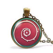 Steven-Universe-Shield-Cabochon-Necklace-Mens-Handmade-Fashion-Chain-Women