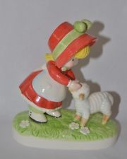 "Vintage 1983 Joan Walsh Anglund ""Mary Had A Little Lamb"" Figurine"