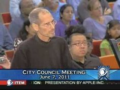 Apple Inc. CEO Steve Jobs presents his proposal for a new Apple Campus to the Cupertino City Council. This presentation was recorded Tuesday, June 2011 at. Steve Jobs, Campus 2, Summer Jobs, Taking Shape, Apple Inc, Very Bad, City Council, Job S