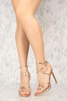 Sexy Rose Gold Crisscross Open Toe Single Sole High Heels Patent Faux Leather Source by high heels Work Heels, Pumps Heels, Stiletto Heels, Hot High Heels, Womens High Heels, Black Heels, Vintage High Heels, Beautiful High Heels, Fashion Shoes