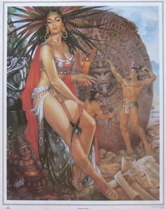 Jesus Helguera - Mexican artist and icon Jesus Helguera, Jorge Gonzalez, Hispanic Art, Mexican Paintings, Latino Art, Aztec Culture, Mexican Heritage, Aztec Warrior, Mexico Art