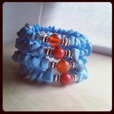 Boho style authentic chunky turquoise bracelet on by ILoveBeads247, $16.00