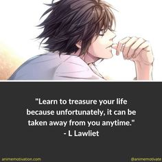 Death Note is world famous for its psychological elements, deep story, and interesting characters. If you're a fan of the anime, check out these 30 quotes that will make you think, and reflect on your own life in a meaningful way. Death Note 1, Death Note Near, Death Note Funny, Death Note Light, Naruto Quotes, Sad Anime Quotes, Manga Quotes, Anime Quotes About Life, Death Note Cosplay