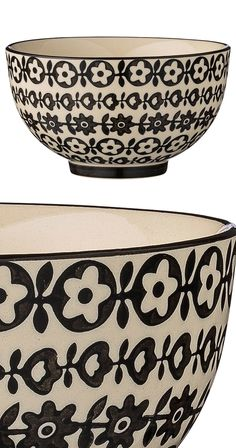 The secret to black-and-white décor is known to those who embrace it. Fine detailing and the provocation of imagination, together with versatility, make for a stylish way to spice up a table. The Balla...  Find the Ballantyne Ceramic Bowl - Set of 4, as seen in the A Private Luxury for Creatives Collection at http://dotandbo.com/collections/a-private-luxury-for-creatives?utm_source=pinterest&utm_medium=organic&db_sku=118833