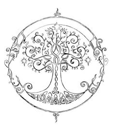 elven tree of life - tattoo idea idk if i like this one or the celtic tree of life better Tattoo Life, Tattoo Son, Et Tattoo, Tree Of Life Tattoos, Celtic Tree Tattoos, Tattoo Thigh, Collarbone Tattoo, Tattoo Neck, Samoan Tattoo