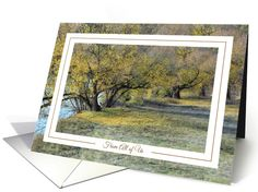 Happy Thanksgiving From All of Us - Autumn Trees on the Rivers Edge card