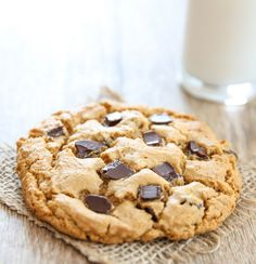 Single Serving Giant Flourless Peanut Butter Cookie | Kirbie's Cravings | A San Diego food blog
