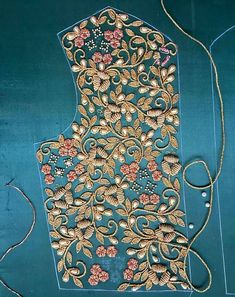 Stickerei Embroidery If you have been interested in being a fashion designer for a while now, there Zardosi Embroidery, Hand Embroidery Dress, Tambour Embroidery, Couture Embroidery, Gold Embroidery, Embroidery Fashion, Bead Embroidery Tutorial, Bead Embroidery Patterns, Bead Embroidery Jewelry