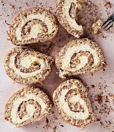 Cheesecake roll cake Baking, Celebrate and Enjoy, Sweet Baking, Gluten Free … – Pirkko Koskela Juustokakkukääretorttu Piece Of Cakes, Gluten Free Baking, Something Sweet, Sweet Desserts, No Bake Cake, Bagel, Baked Goods, Cheesecake, Rolls