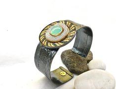 SBRA 854 – Sally Craig SEC Designs Sally, Sterling Silver Jewelry, Hand Weaving, Cuff Bracelets, Cuffs, Wire, Gold, Leather, Hand Knitting