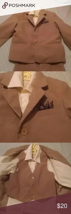 4 piece Boys Suit - 3T 3T boys pants, vest, shirt, suit jacket, adorable Silvex Suit Matching Sets
