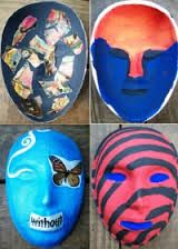 art therapy projecting masks Art Therapy Projects, Art Projects For Teens, Art Therapy Activities, Therapy Ideas, Play Therapy, Grief Activities, Counseling Activities, Therapy Tools, Art Therapy Directives