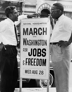 August 28, 1963: Organizers Bayard Rustin & Cleveland Robinson, , The March on Washington for Jobs and Freedom, Washington, DC