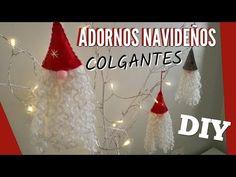 DIY: Adornos Navideños 2017 | EASY CHRISTMAS ORNAMENTS 2017 | Hanging Christmas Gnomes - YouTube