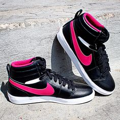 #NIKE HALLY HOOP - Retro #basketball inspired high-top designed for #her.  ONLY available online at www.ShopWSS.com - CLICK to begin shopping!