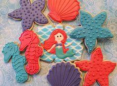 Under the sea mermaid and friends BZ Bees Sweet Treats Custom Cookies NJ