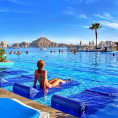 Poolside lounging in Cabo San Lucas, Mexico. Photo courtesy of globaltouring on Instagram. ❤ Don't forget to take care of your skin! > http://mchappelle.theneriumlook.com/ ❤