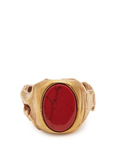 Click here to buy Valentino Stone-embellished signet ring at MATCHESFASHION.COM