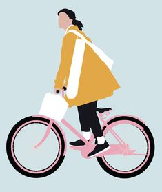 Vector Woman Riding Bicycle The post Vector Woman Riding Bicycle appeared first on Architecture Diy. Bicycle Illustration, People Illustration, Illustration Art, Photoshop Png, Architecture People, People Figures, Affinity Photo, Underwater Photography, Graphic