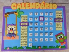 Calendario Yellow Things n yellow pill Spanish Classroom, School Classroom, Classroom Decor, Class Decoration, School Decorations, Kindergarten, Classroom Calendar, Birthday Charts, Dora