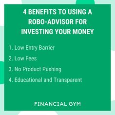 A robo-advisor is essentially a robot (duh), or computer algorithm, that takes the place of a human being when it comes to managing investments.