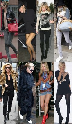 kate moss is one of the all-time fashionistas. her style is eclectic, funky, and bohemian.