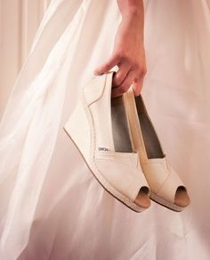 16 White Wedge Wedding Shoes with Brilliant Details!
