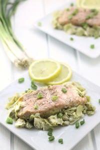 Lemon Artichoke Baked Salmon Recipe