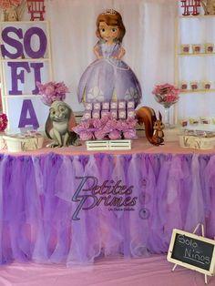 Mesa de dulces Princesa Sofía