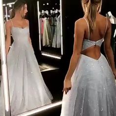 Look at this sparkly prom dress! Get it to slay your prom! - - Look at this sparkly prom dress! Get it to slay your prom! Source by gissellitabonita Cheap Long Dresses, Pretty Prom Dresses, Tulle Prom Dress, Backless Dresses, Princess Prom Dresses, Prom Dress Long, Elegant Dresses, Best Prom Dresses, Sparkly Prom Dresses