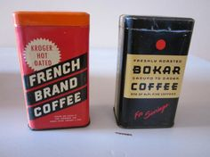 Vintage Bokar Coffee Tin and Kroger by TheGypsyChixCompany on Etsy, $24.00
