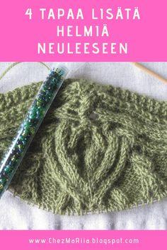 4 Eri tapaa lisätä helmiä neuleeseen. #Neulonta #Knitting #SiemenHelmi #SeedBead #Lasihelmi #GlassBead #BlingBling Ballerina, Crochet Hats, Slippers, Bling, Fashion, Knitting Hats, Moda, Jewel, Ballet Flat