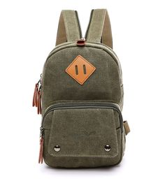 Genda 2Archer Canvas Chest Bag Crossbody Bag Mini Backpack Leisure Daypack * For more information, visit image link.