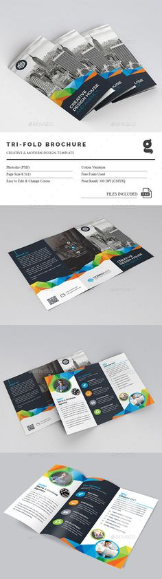 Tri-Fold Brochure Template PSD. Download here: http://graphicriver.net/item/trifold-brochure/15064313?ref=ksioks