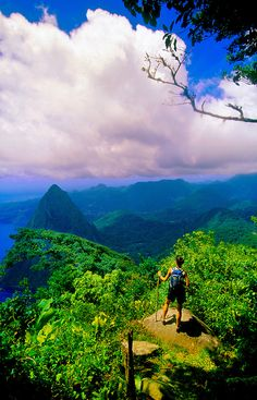 View from the top of Gros Piton, St. Lucia