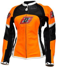 PINK LADIES MOTO JACKET 2015 Woman leather motorcycle jacket specially designed for maximum convenience and comfort of women riders. Bright sport design for the feminine silhouette combined in this jacket model. Made of genuine leather, skin thickness 1.2-1.3 mm. This motorcycle jacket has been specially made with all features of the female figury. Powerful protectors will protect shoulders, elbows and back. * Original titanium sliders * Double and triple stitched seam with titanium thre...