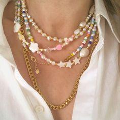 Handmade Wire Jewelry, Funky Jewelry, Trendy Jewelry, Summer Jewelry, Cute Jewelry, Bead Jewellery, Beaded Jewelry, Jewelery, Jewelry Necklaces