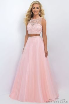 2016 Blush Prom 11022 Fancy Beaded Two Piece Tulle Gown Sale Prom Dresses Two Piece, Cute Prom Dresses, Sweet 16 Dresses, Grad Dresses, 15 Dresses, Dance Dresses, Pretty Dresses, Homecoming Dresses, Beautiful Dresses