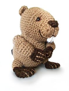 Benny the Beaver amigurumi crochet pattern by Jessica Boyer (Crochetliens)