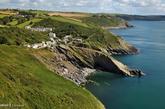 View of Portloe from the coast path