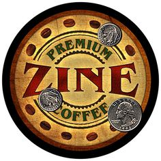Zine Family Coffee Rubber Drink Coasters - Set of 4