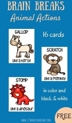 Brain Breaks help kids have fun taking breaks from doing work because research shows preschool, Kindergarten, and first grade kids need these breaks from sittin still.These FREE printable cards are super cute and will help kids get that stretch break they need in a FUN way. Perfect for classrooms, homework time, homeschool, and other group settings.