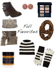 Fall Favorites! including #cosmeticbags #clutch #booties #earrings #accessories #modernpalm www.modernpalm.com