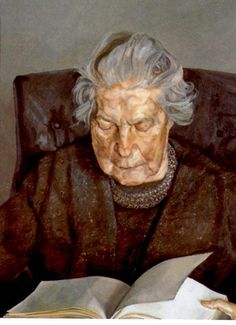 """""""The Painter's Mother Reading"""", 1975 / Lucian Freud (1922-2011) / Private Collection"""