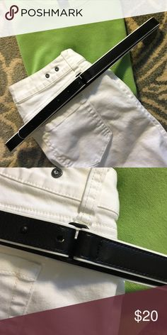 Cabi black belt Like new black with white piping CAbi Accessories Belts