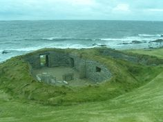 Scottish Islands - Looking down to the Knap of Howar, Isle of Papa Westray, Orkney Islands
